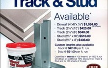 Dry Wall Track and Stud Available